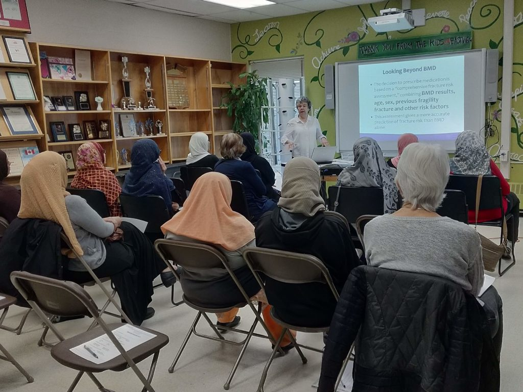 Medical Form education at Eastview Neighbourhood Community Centre